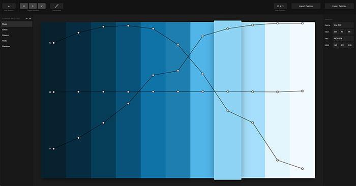 L'interfaccia di Palettte: la web app per creare palette