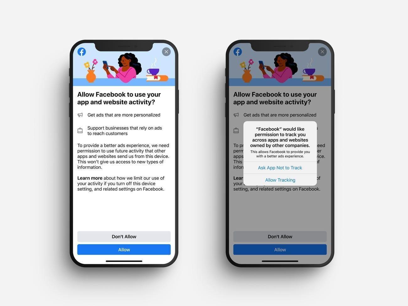Il famigerato pop-up presente in iOS 14.5 che richiede il permesso per tracciare i dati degli utenti