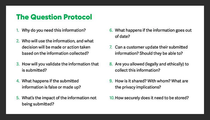 The Question Protocol